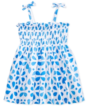 First Impressions Baby Girls DotPrint Smocked Cotton Sundress Created for Macys