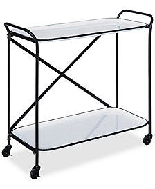 Metal Cart on Casters with 2 Shelves