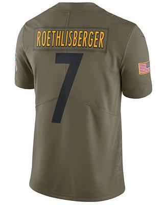 de19008369b Nike Men's Ben Roethlisberger Pittsburgh Steelers Salute To Service Jersey  & Reviews - Sports Fan Shop By Lids - Men - Macy's