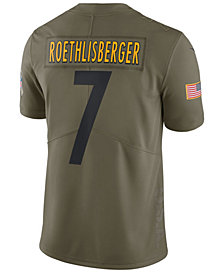Nike Men's Ben Roethlisberger Pittsburgh Steelers Salute To Service Jersey