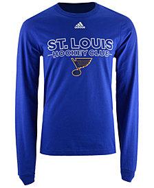 adidas Men's St. Louis Blues Frontline Long Sleeve T-Shirt