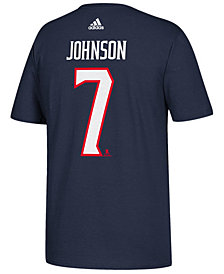 adidas Men's Jack Johnson Columbus Blue Jackets Silver Player T-Shirt
