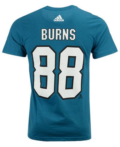 adidas Men's Brent Burns San Jose Sharks Silver Player T-Shirt