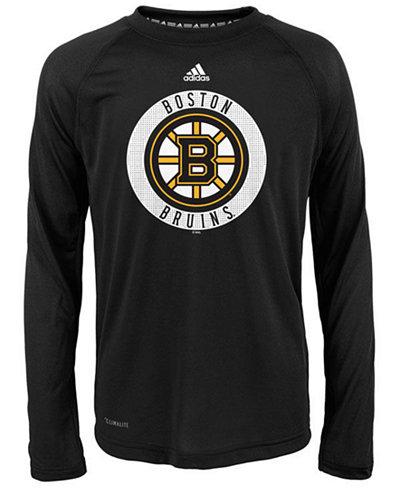 adidas Boston Bruins Practice Graphic Long Sleeve T-Shirt, Big Boys (8-20)