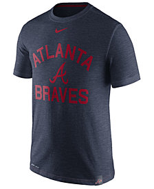 Nike Men's Atlanta Braves Dri-Fit Slub Arch T-Shirt