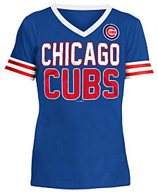 5th & Ocean Chicago Cubs Rhinestone T-Shirt, Girls (4-16)