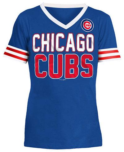 5th & Ocean Chicago Cubs Rhinestone T-Shirt, Girls (4-16)