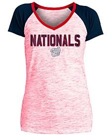 5th & Ocean Women's Washington Nationals Space Dye Stone T-Shirt