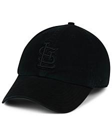 St. Louis Cardinals Black on Black CLEAN UP Cap