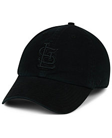 '47 Brand St. Louis Cardinals Black on Black CLEAN UP Cap