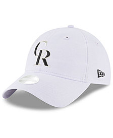 New Era Colorado Rockies Team Linen 9TWENTY Strapback Cap