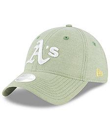 New Era Oakland Athletics Team Linen 9TWENTY Strapback Cap