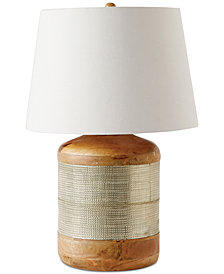 Wood-Clad Table Lamp