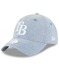 New Era Tampa Bay Rays Team Linen 9TWENTY Strapback Cap
