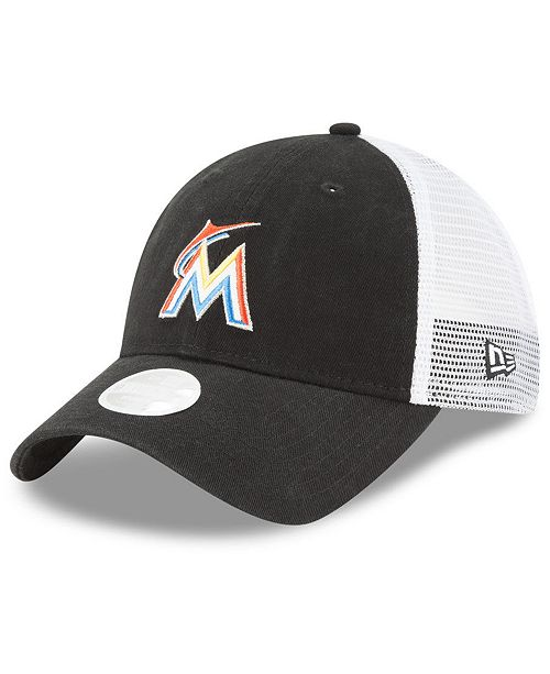 New Era Miami Marlins Trucker Shine 9TWENTY Cap - Sports Fan Shop By ... dc8e6d264f5