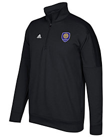 adidas Men's Orlando City SC Logo Set Quarter-Zip Fleece Pullover