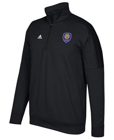adidas Men's Orlando City SC Logo Set Quarter-Zip Fleece Pullover
