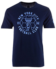 adidas Men's New York City FC Linear Icon Tri-Blend T-Shirt