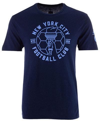 adidas Men's New York City FC Linear Icon Tri-Blend T-Shirt