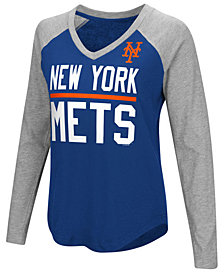 G-III Sports Women's New York Mets Power Hitter Raglan T-Shirt