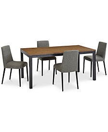 Gatlin Dining Furniture, 5-Pc. Set (Dining Table & 4 Dining Chairs), Created for Macy's