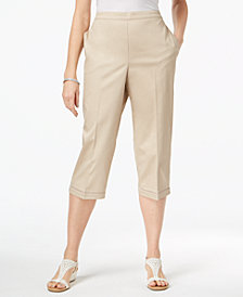 Alfred Dunner Scottsdale Pull-On Capri Pants