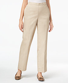 Alfred Dunner Scottsdale Pull-On Straight-Leg Pants