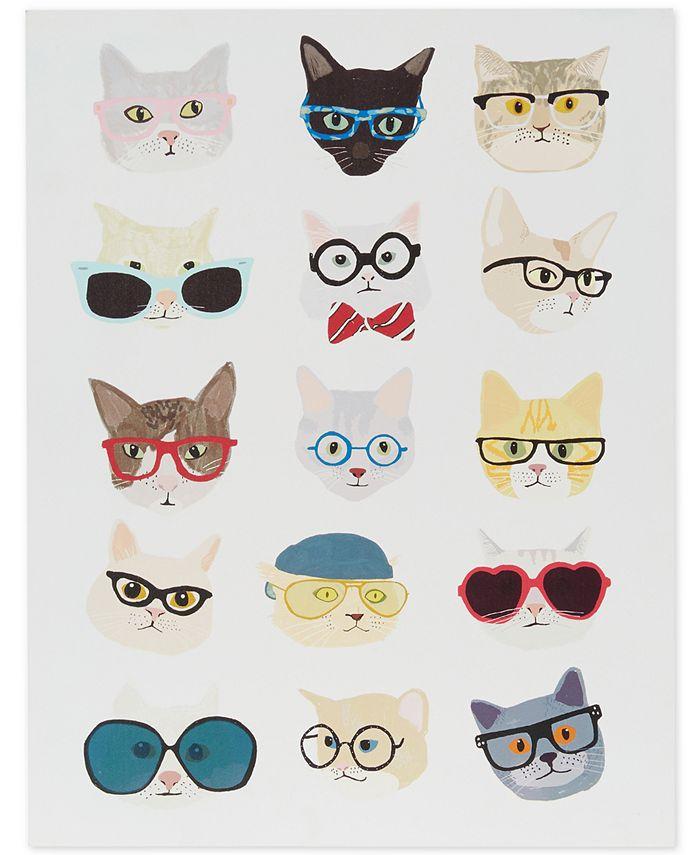 JLA Home - Hip Cat Printed Dimensional Box Wall Art