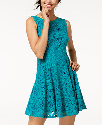 City Studios Juniors Lace Fit Amp Flare Dress Dresses