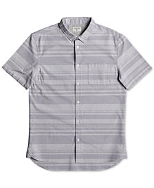 Quiksilver Men's Curved-Hem Striped Shirt
