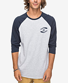 Quiksilver Men's Die Cut Logo Raglan-Sleeve T-Shirt