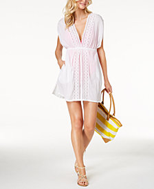 Lauren Ralph Lauren Cotton Lace-Trim Cover-Up
