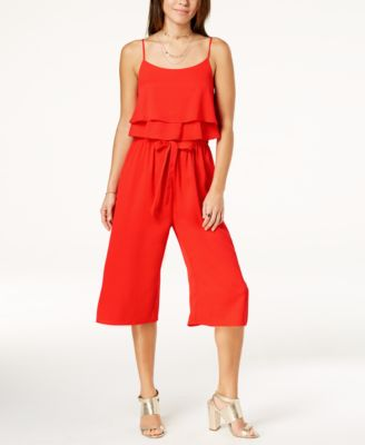 One Clothing Juniors Ruffled Popover Jumpsuit