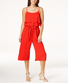 Juniors' Ruffled Popover Jumpsuit