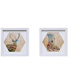 Intelligent Design Lost in the Woods 2-Pc. Framed Gel-Coated Wall Art Set