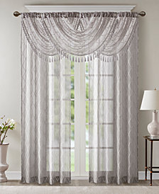 Madison Park Irina Embroidered Diamond Sheer Window Treatment Collection