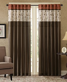 """Serene 50"""" x 84"""" Colorblock Embroidered Curtain Panel"""