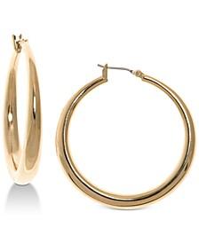Gold-Tone Graduated Hoop Earrings