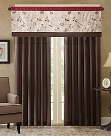 Serene Colorblocked Embroidered Window Treatment Collection