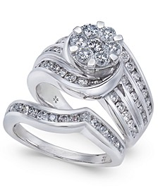 Diamond Cluster Multi-Row Bridal Set (2 ct. t.w.) in 14k White Gold