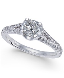 Diamond Engagement Ring (1 ct. t.w.) in 14k White Gold