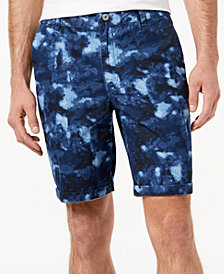 "GUESS Men's Marbled 9"" Casual Shorts"