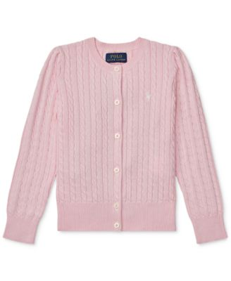 Toddler Girls Cable Cardigan