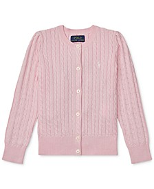 Little Girls Cable-Knit Cotton Cardigan
