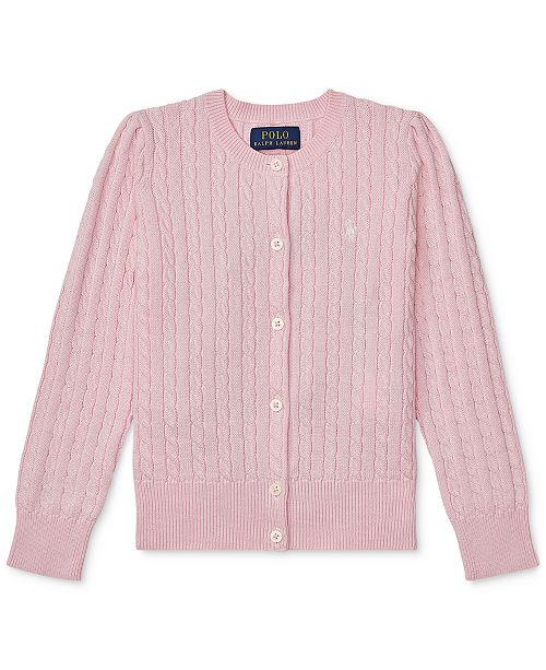 06aaaefb6 Polo Ralph Lauren Toddler Girls Cable Cardigan   Reviews - Sweaters ...
