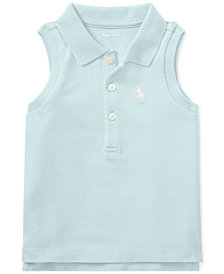 Polo Ralph Lauren Sleeveless Cotton Polo, Baby Girls