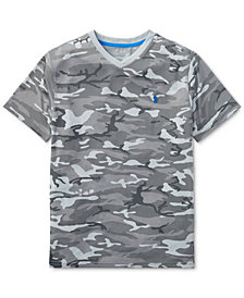 Polo Ralph Lauren Camouflage Graphic V-Neck T-Shirt, Big Boys