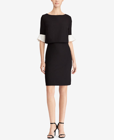American Living Two-Tone Popover Dress