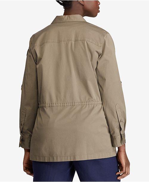 ff17691f84f Lauren Ralph Lauren Plus Size Twill Utility Jacket   Reviews ...