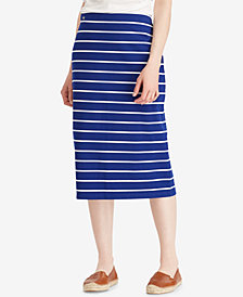 Lauren Ralph Lauren Striped Midi Skirt
